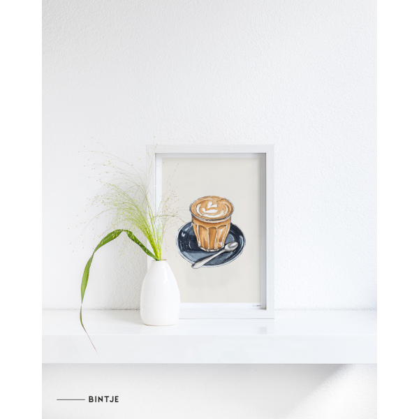 Poster Food Cappuccino 15x20cm - 6 stuks
