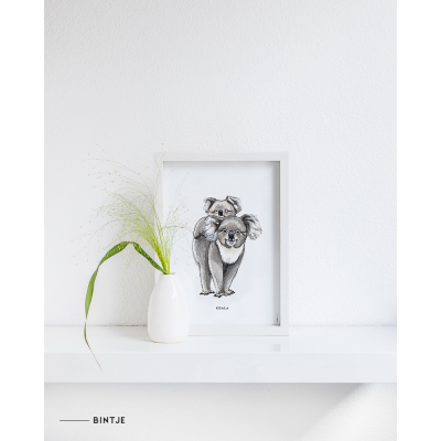 Poster Koala A: A4 - 10 stuks