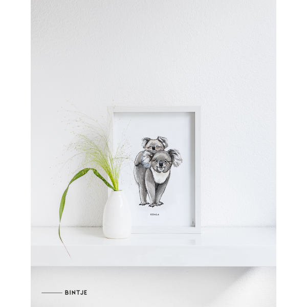 Poster Koala A: A4 - 6 stuks