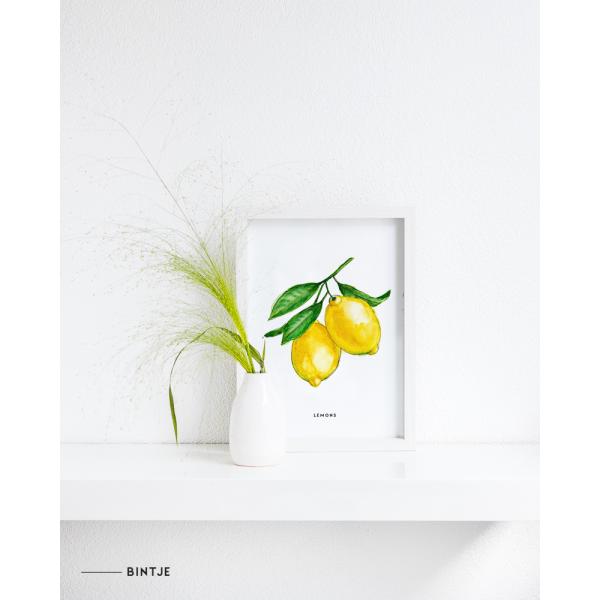 Poster Lemons A: A4 - 6 stuks