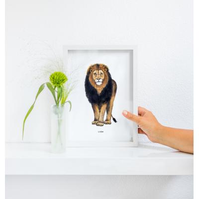 Poster Leeuw A: A4 - 10 stuks