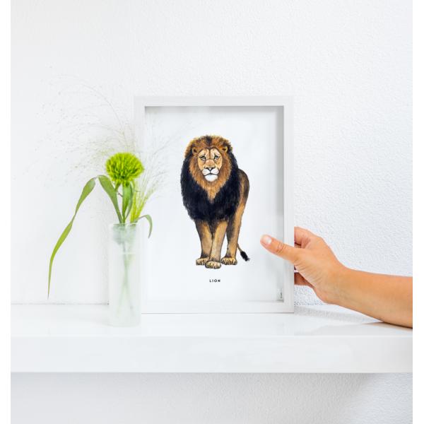 Poster Leeuw A: A4 - 6 stuks