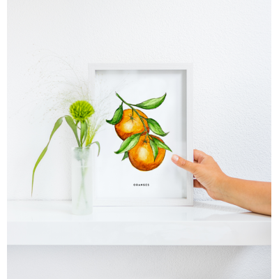Poster Oranges A: A4 - 10 stuks