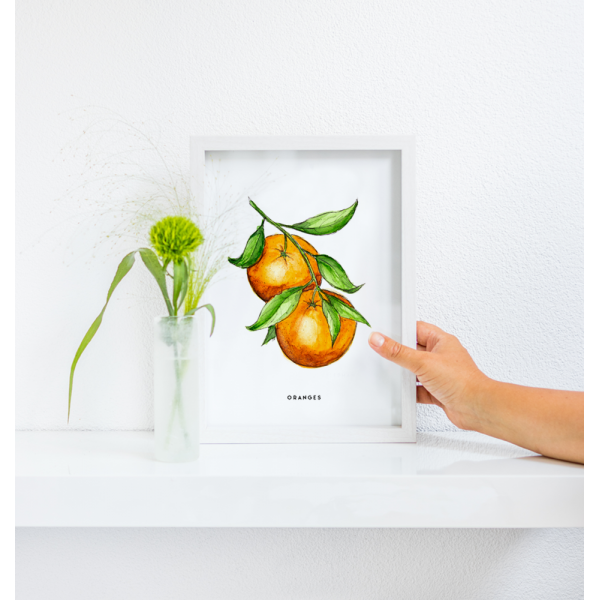 Poster Oranges A: A4 - 6 stuks