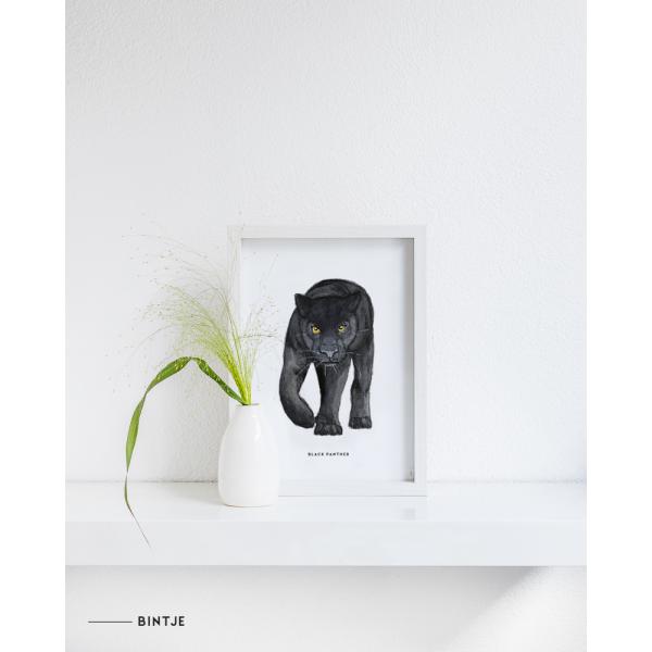 Poster Zwarte panter A: A4 - 6 stuks