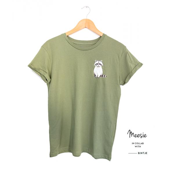 Unisex T-shirt Wasbeer - 4 stuks