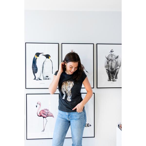 Slimfit T-shirt Luipaard