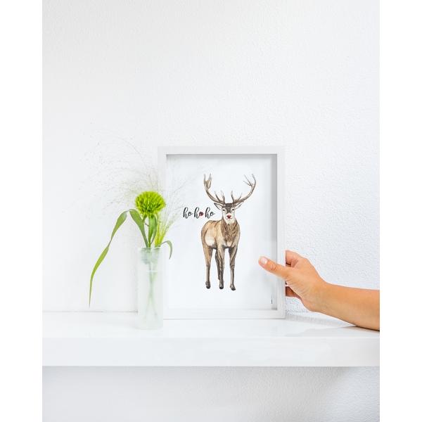 Poster Rudolf kerst A4 - 10 stuks