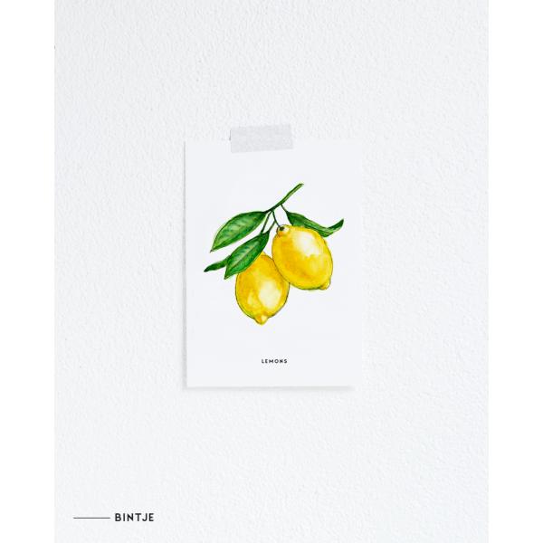 Ansichtkaart Lemons - 10 stuks