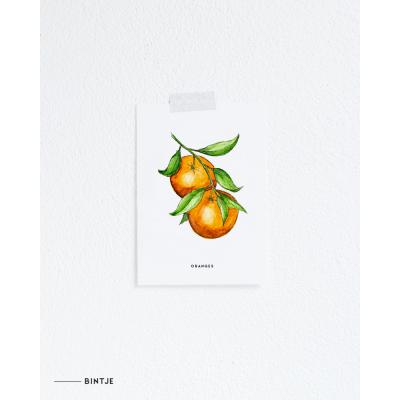Ansichtkaart Oranges - 10 stuks