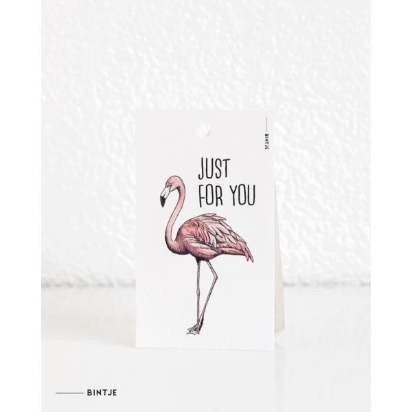 Cadeaukaartjes Flamingo ENGELS - 20 stuks