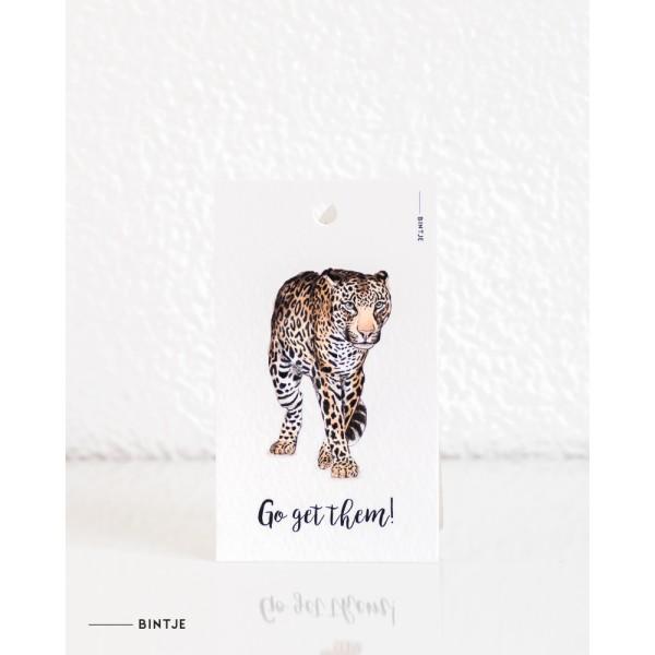 Cadeaukaartjes Luipaard - 20 stuks