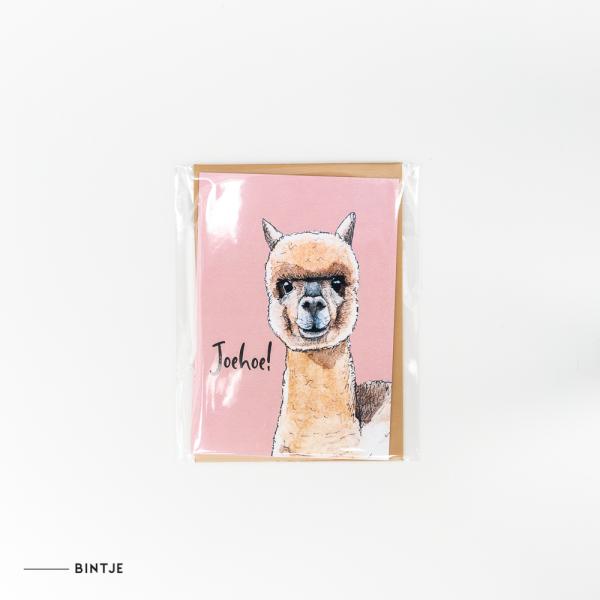 Dubbele Ansichtkaart Alpaca - 10 stuks