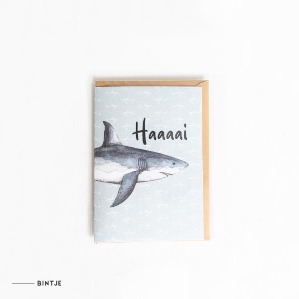 Dubbele Ansichtkaart Haai - 10 stuks