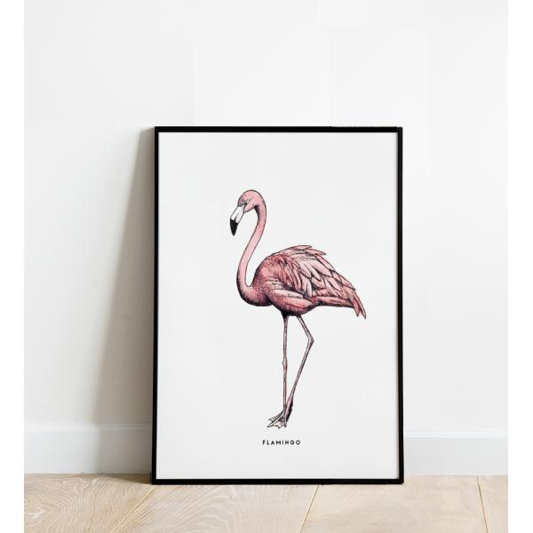 Poster Flamingo B: 30x40 - 6 stuks