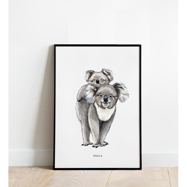 Poster Koala B: 30x40 - 6 stuks