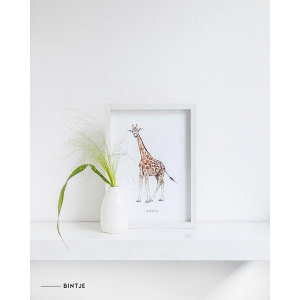 Poster Giraf A4: A - 6 stuks