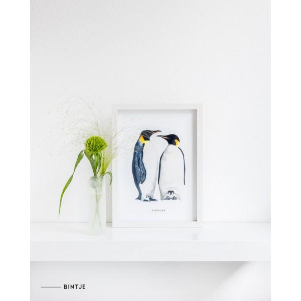 Poster Pinguins A: A4 - 6 stuks