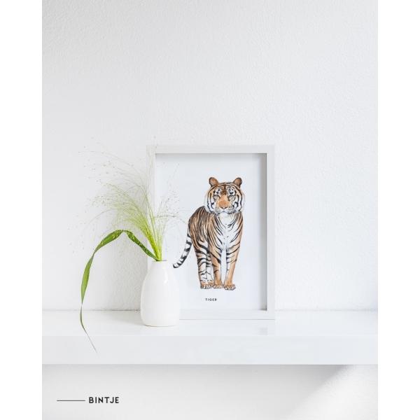 Poster Tijger A: A4 - 10 stuks