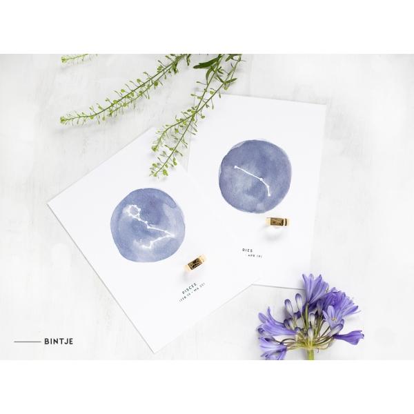 Ansichtkaart Sterrenbeeld blauw - 10 stuks