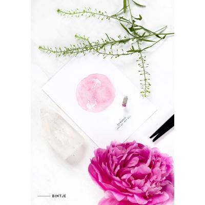 Ansichtkaart Sterrenbeeld roze - 10 stuks