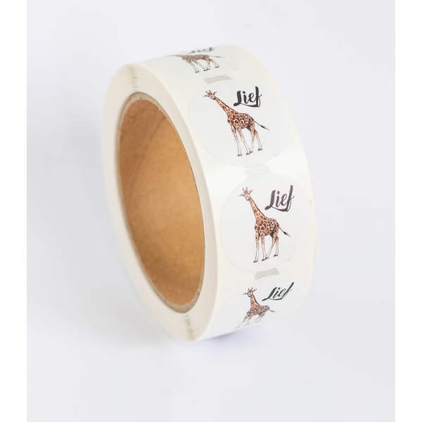 Stickers Giraf op rol