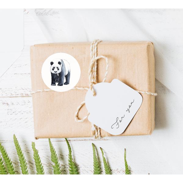 Stickers Panda op rol