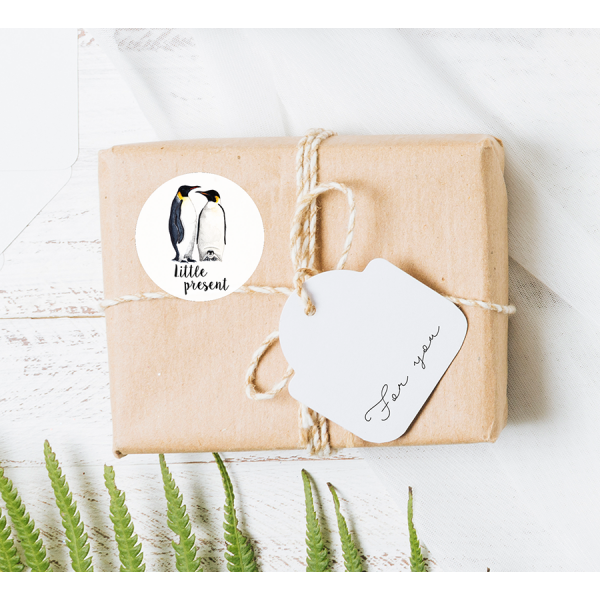 Stickers Pinguins op rol