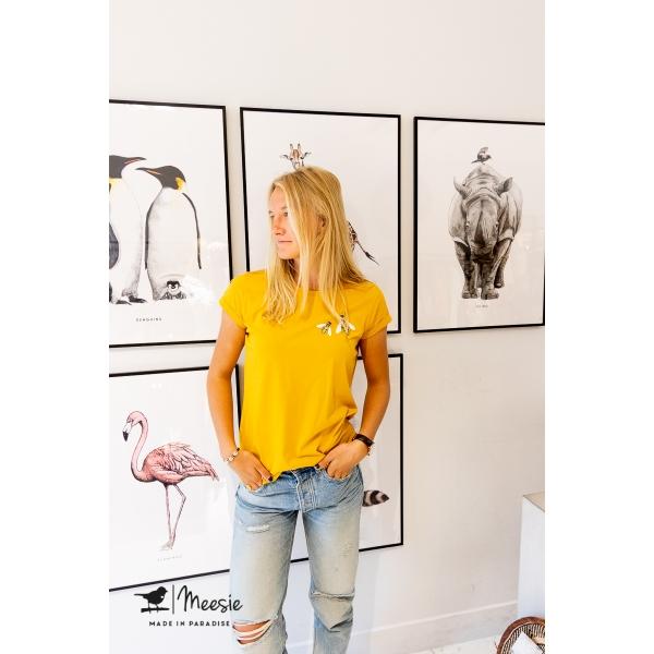 Slimfit T-shirt Bijen