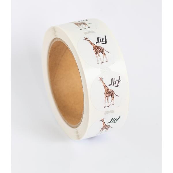 Stickers Giraf op rol DE LAATSTE
