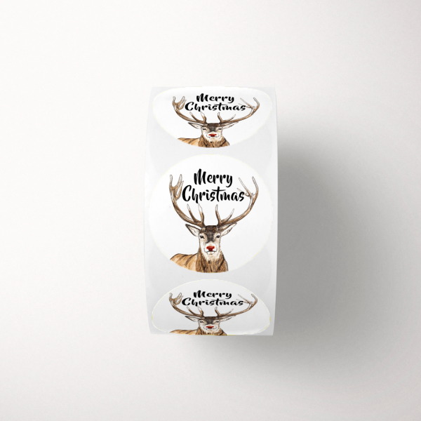 Stickers Merry Christmas op rol Kerst