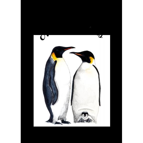 Ansichtkaart Kerst Pinguins - 10 stuks