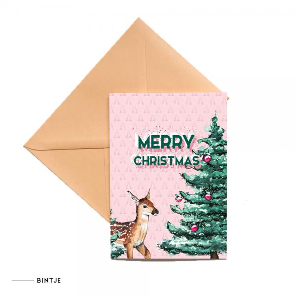 Dubbele Ansichtkaart Kerst - 10 stuks