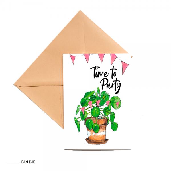 Dubbele Ansichtkaart Plant party - 10 stuks