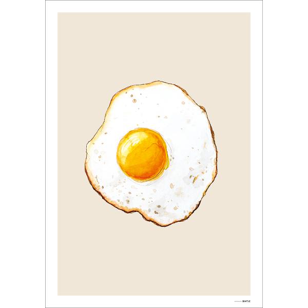 Poster Food Eitje 15x20cm