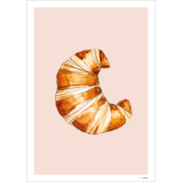 Poster Food Croissant 15x20cm - 6 stuks