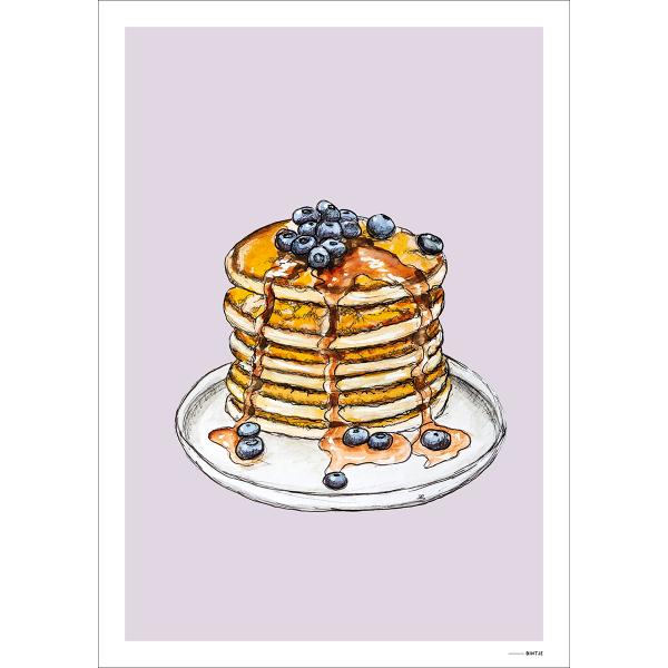 Poster Food Pancake 15x20cm - 6 stuks