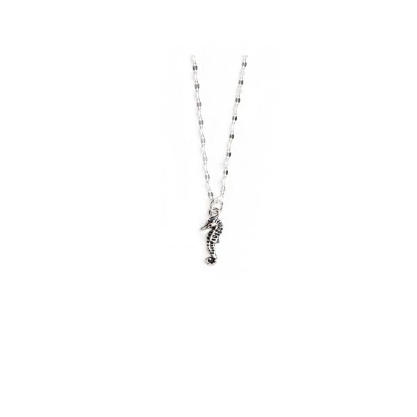 Ketting: Zeepaardje bedel zilver - 1 stuk