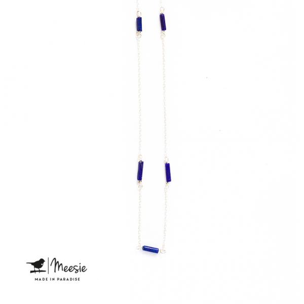 Ketting: Lapis Lazuli zilver - 3 stuks