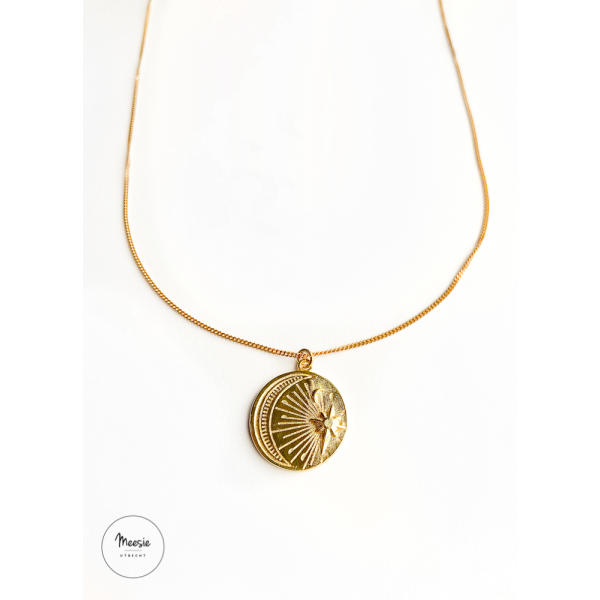 Ketting: MoonStar goud op zilver - 3 kettingen