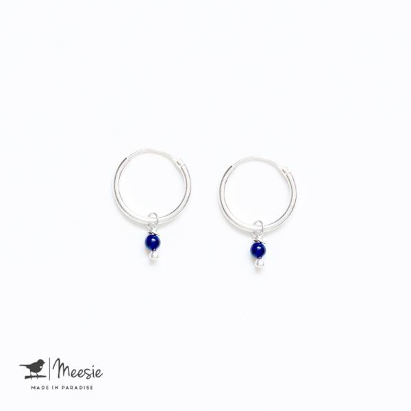 Oorbellen Lapis Lazuli mini zilver