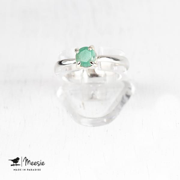 Ring: Aquamarijn edelsteen zilver - 3 ringen