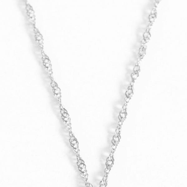 Ketting: Twisted ketting zilver - 3 stuks