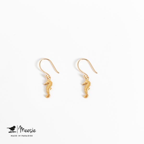 Oorbellen Hangers Zeepaard goud op zilver - 3 sets