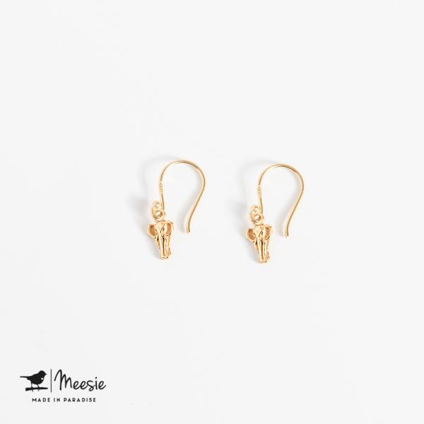Oorbellen Hangers Olifant goud op zilver - 3 sets