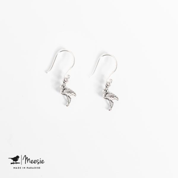 Oorbellen Hangers Flamingo zilver - 3 sets