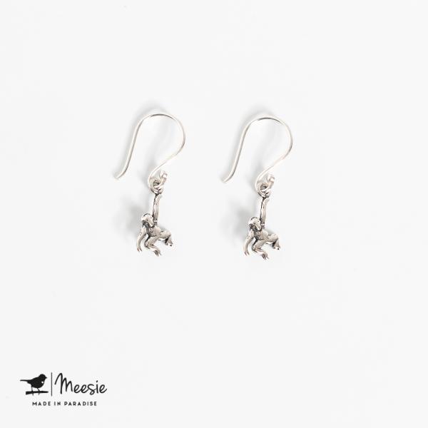 Oorbellen Hangers Aap zilver - 3 sets