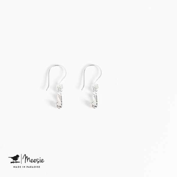 Oorbellen Hangers Garnaaltje zilver - 3 sets
