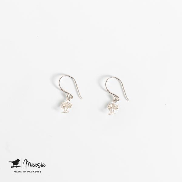 Oorbellen Hangers Palmboom zilver - 3 sets