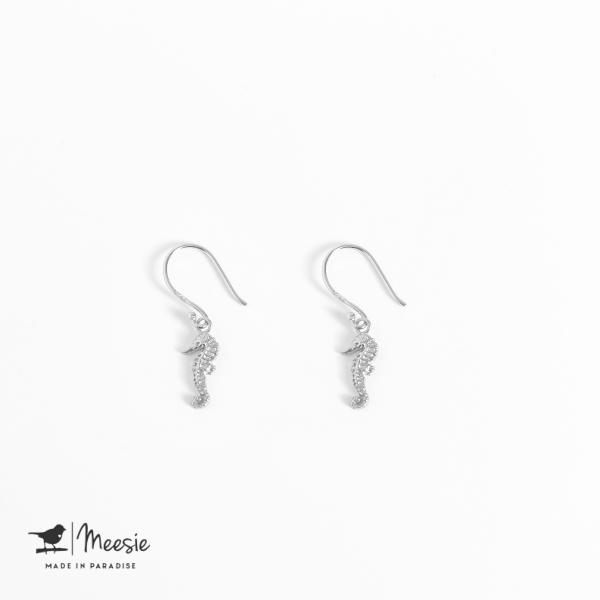 Oorbellen Hangers Zeepaard zilver - 3 sets